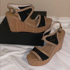 House of Harlow 1960 Black & Cork Size 9.5 (39.5)